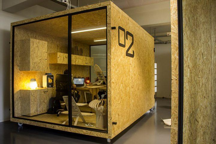 Weproductise desenvolve e produz os cinco escritórios modulares da Incubadora Made IN